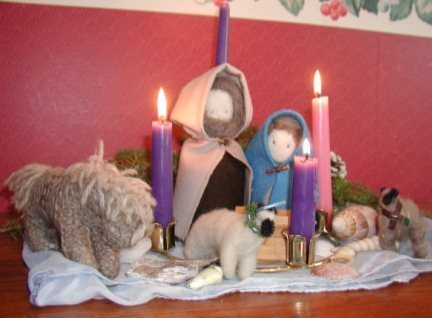 advent scene, week 4
